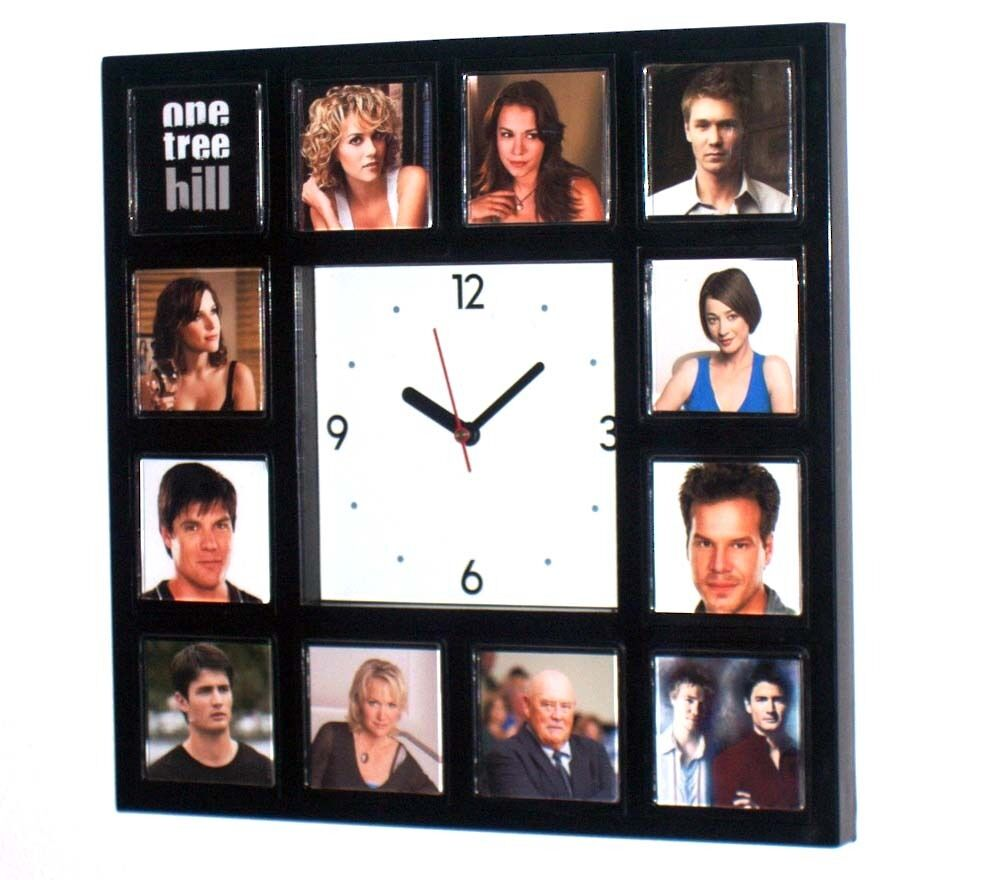 One Tree Hill Tv Show Clock With 12 Images Of Cast Ebay