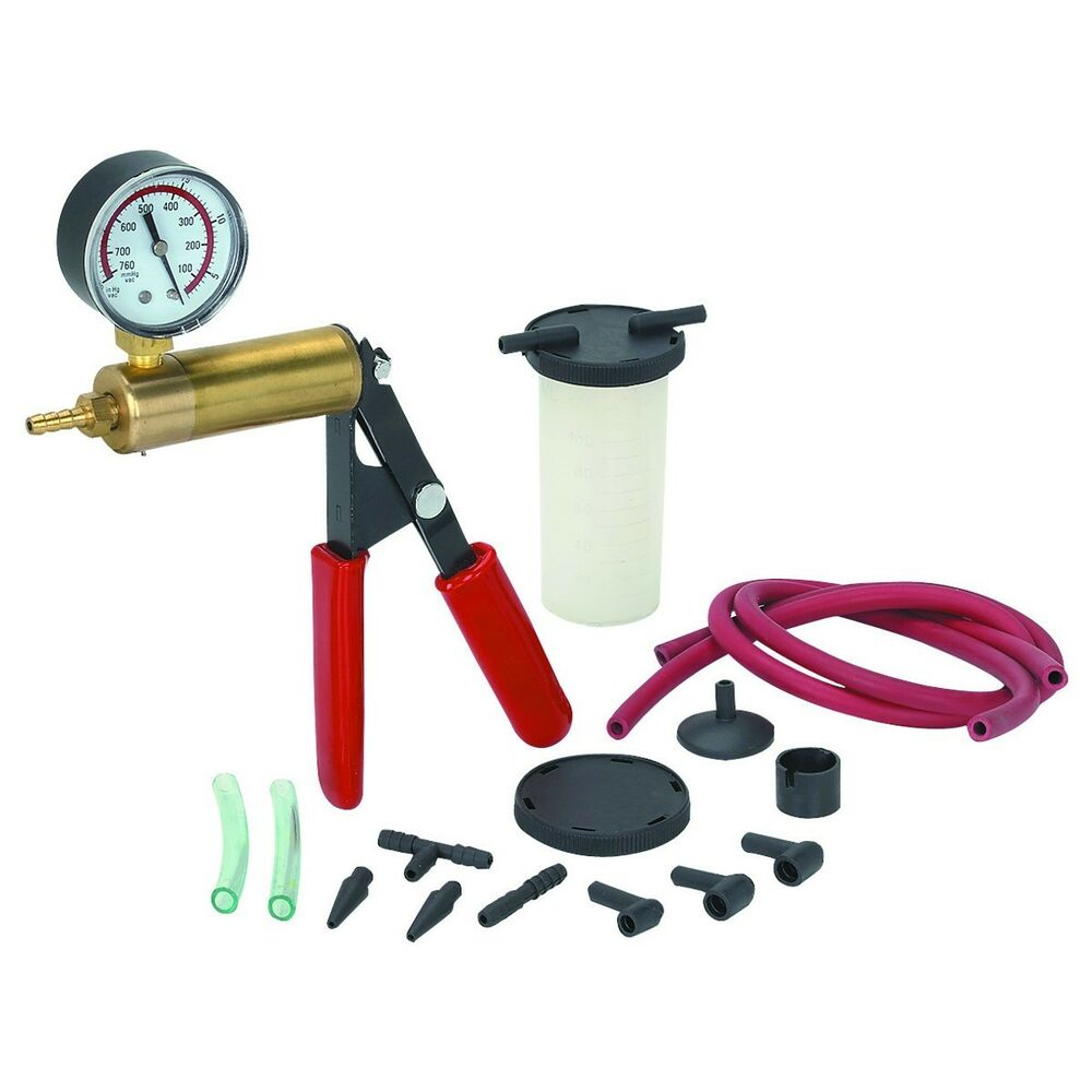 Brake Vacuum Pump : Brake bleeder vacuum pump kit for all vehicle makes and