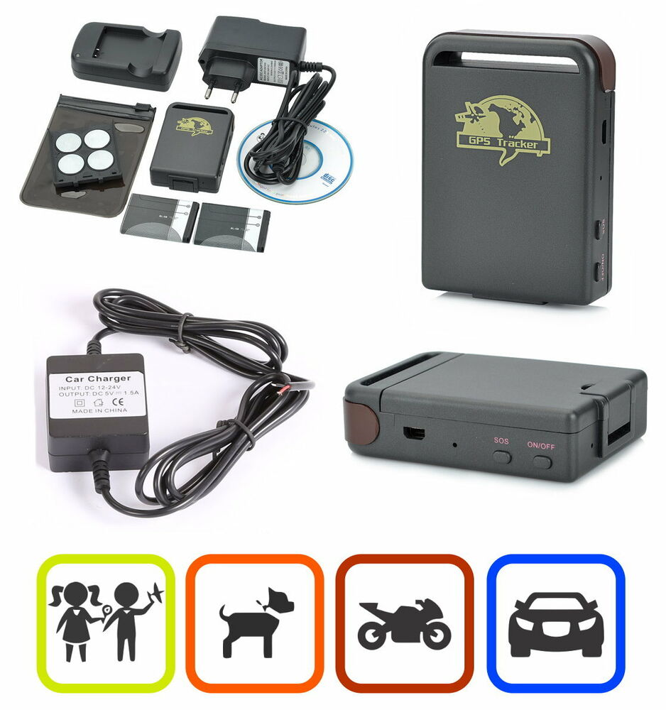 gps tracker f r auto motorrad kinder senioren sos funktion kfz sms gprs tk102 c ebay. Black Bedroom Furniture Sets. Home Design Ideas