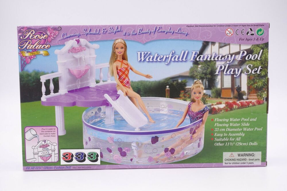 Gloria Barbie Doll House Furniture 2678 Water Fall Fantasy Pool Set Ebay