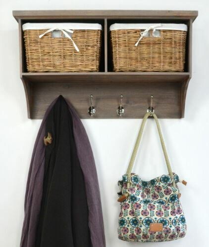 tetbury acacia coat rack with storage baskets hallway. Black Bedroom Furniture Sets. Home Design Ideas