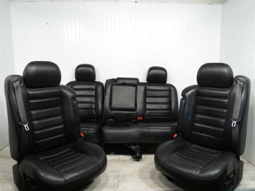 03 07 Hummer H2 Front Bucket BLACK LEATHER Seats SUV