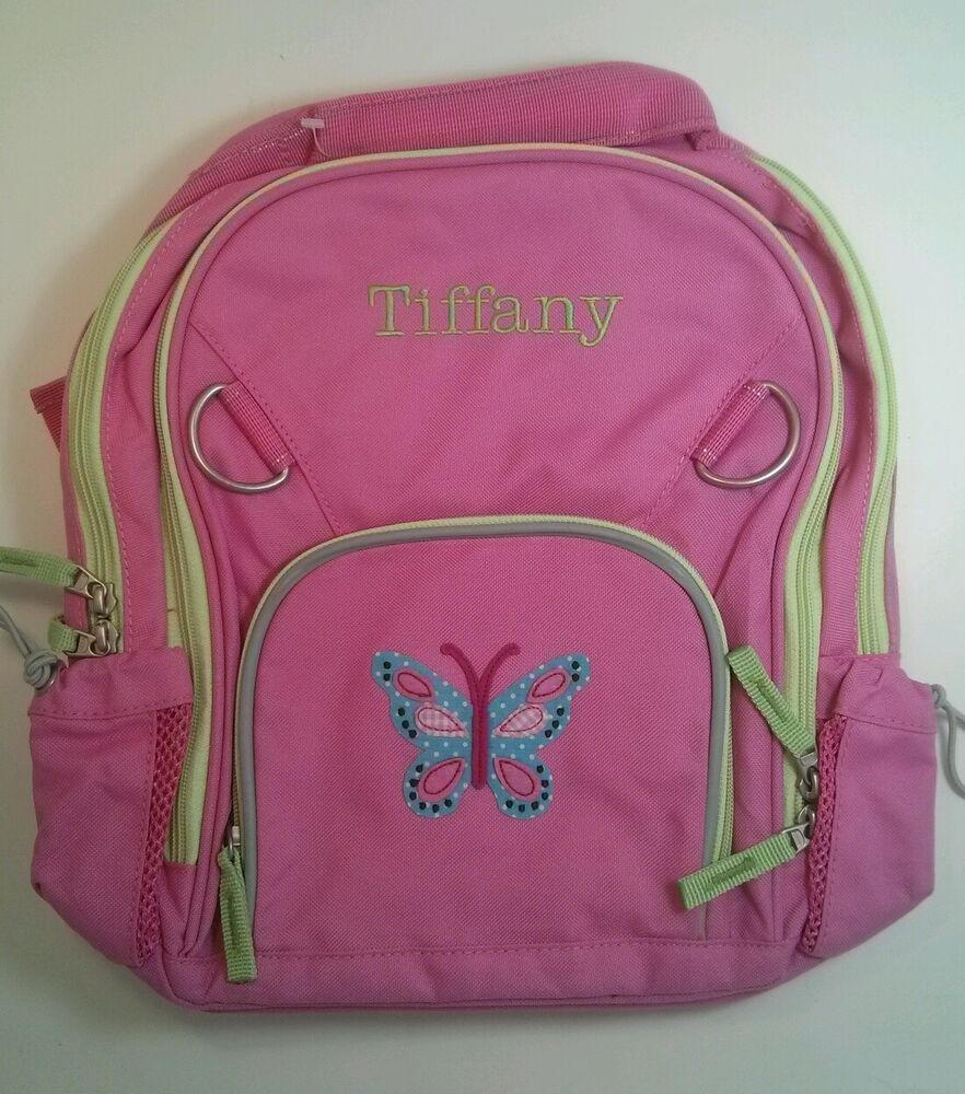 Pottery Barn Kids Small Fairfax Pink Butterfly Backpack