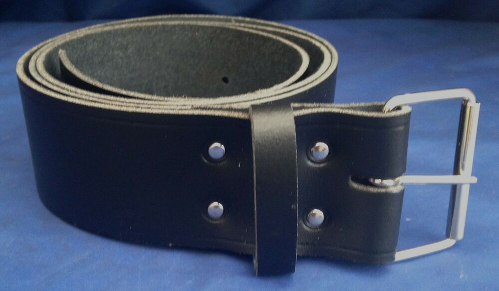 black leather 2 inch wide belt choice buckles made