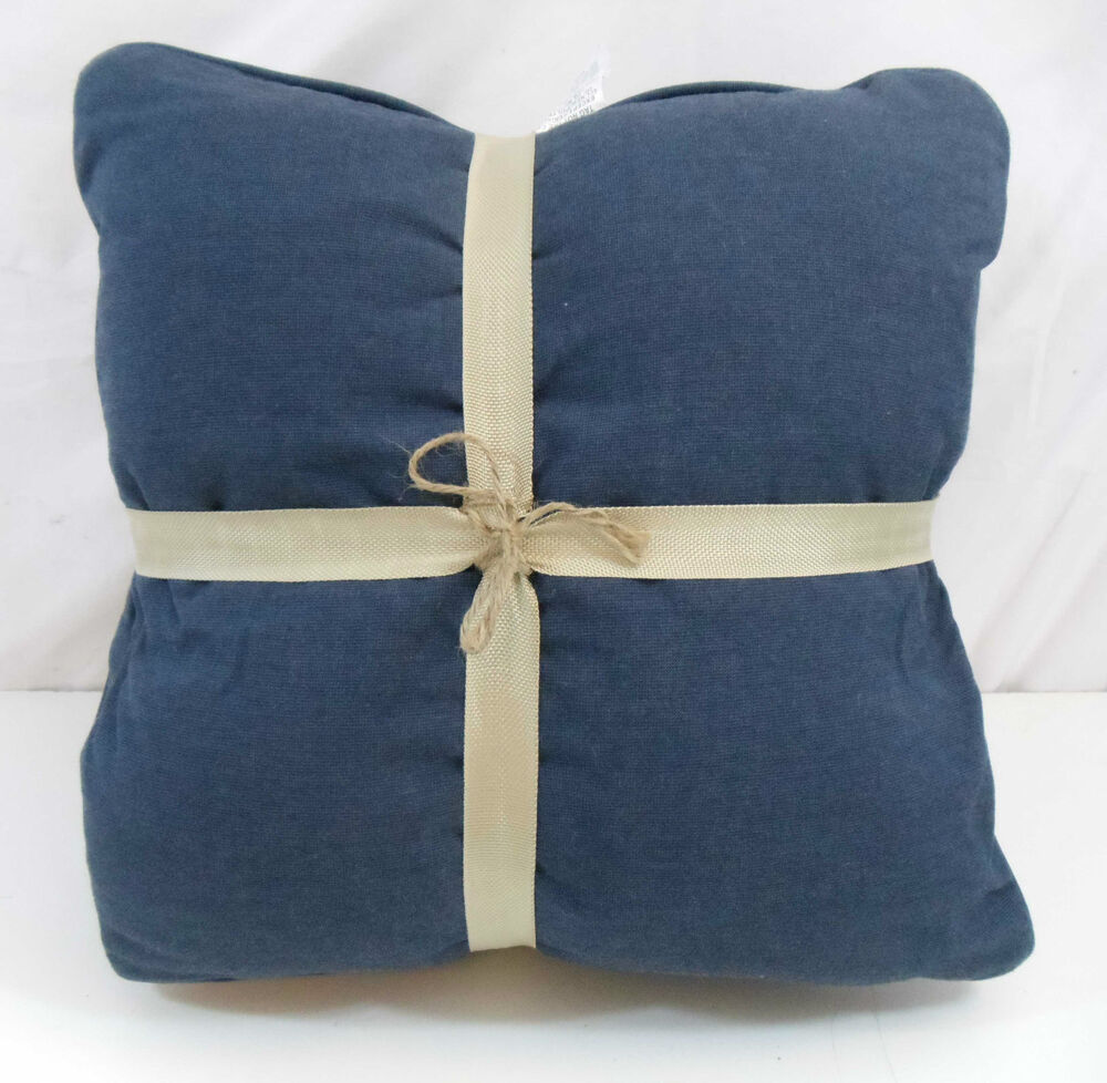 Throw Pillow Two Pack : Sunbrella Two-Pack Outdoor Throw Pillows, Indigo Blue Square Pillow 2 Pack V25 eBay