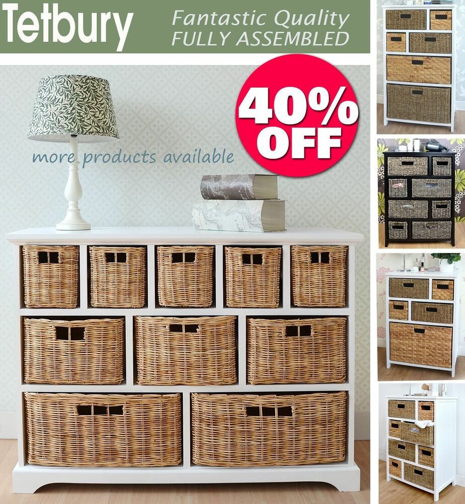 Tetbury white storage unit with 5 drawers bedroom furniture direct - Tetbury Storage Unit Large Chest Of Drawers Storage Baskets Fully Assembled Ebay