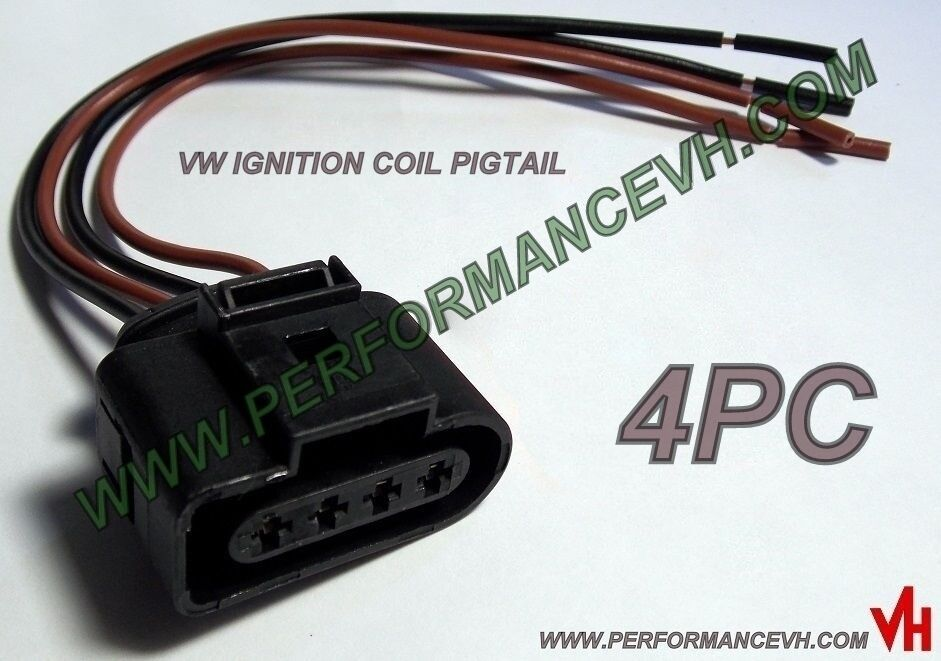 Ignition Coil Wiring Harness Repair Kit : Pc audi vw ignition coil connector repair pigtail