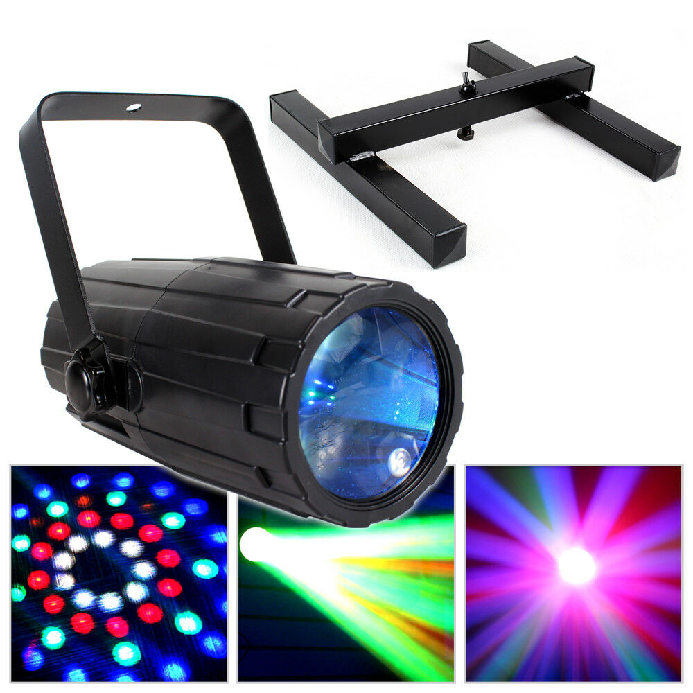 beamz colour led light disco party mobile dj lighting floor stand package 5055839146394 ebay. Black Bedroom Furniture Sets. Home Design Ideas