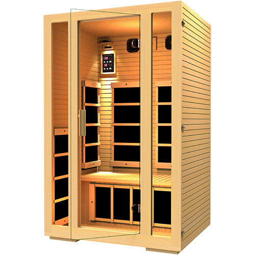 jnh lifestyles 2 person far infrared sauna 7 carbon fiber. Black Bedroom Furniture Sets. Home Design Ideas