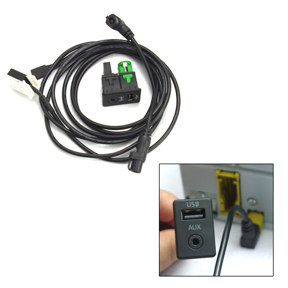 oe usb aux switch cable fit rcd510 rcd 510 for vw passat. Black Bedroom Furniture Sets. Home Design Ideas