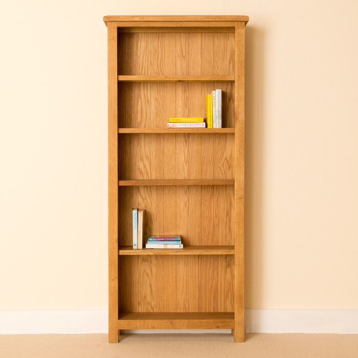 tall storage shelves lanner oak large bookcase shelving rustic oak 27066