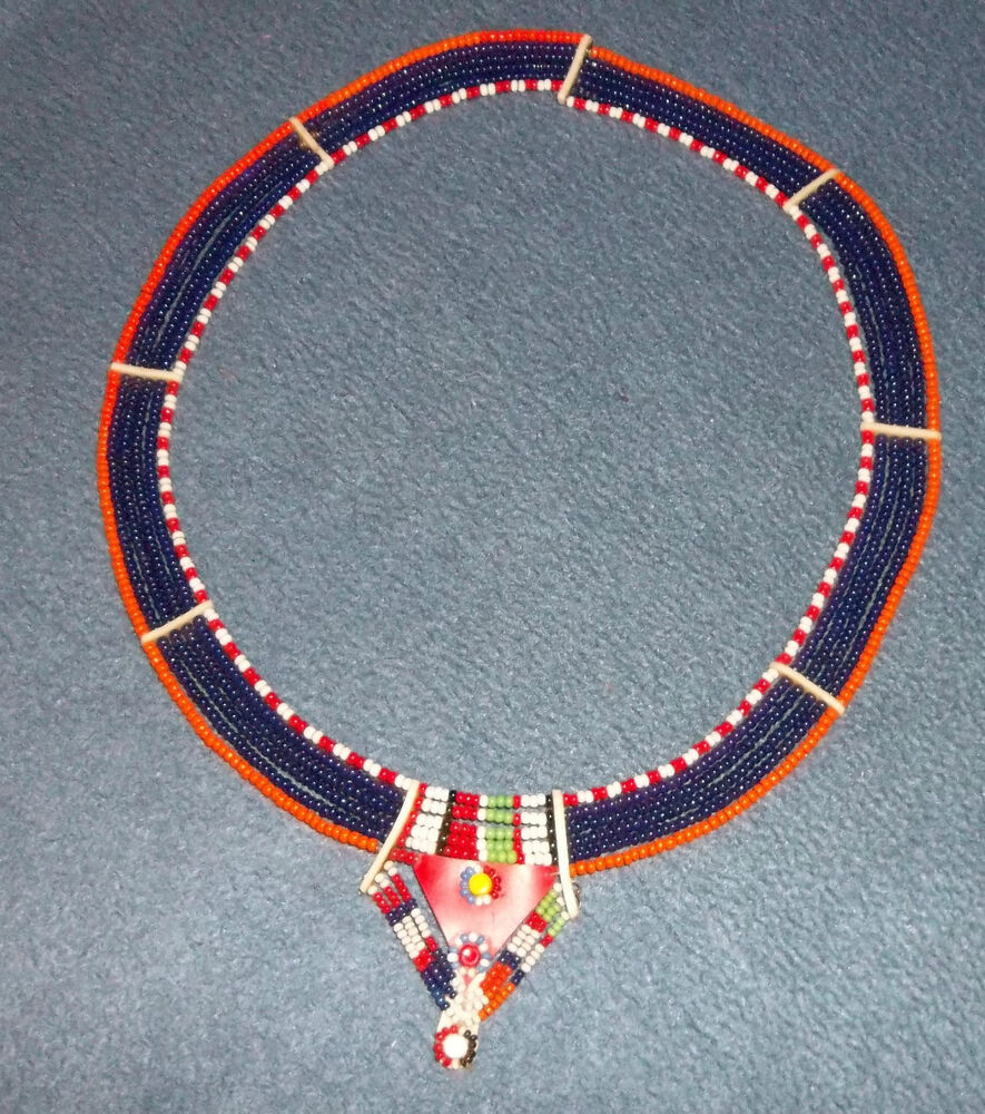 maasai ethnic beaded necklace ebay
