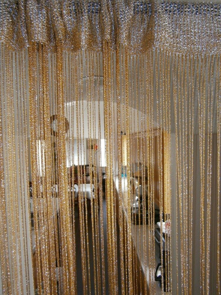 "Free Shipping Multi Color Door Window Panels String: 40x90"" Metallic String Curtain For Windows, Wall Decor"