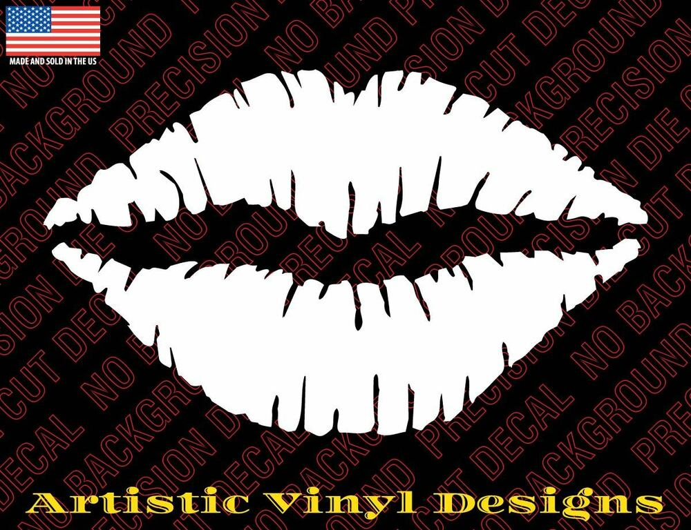 lips kiss vinyl decal sticker for wall car laptop many colors and sizes