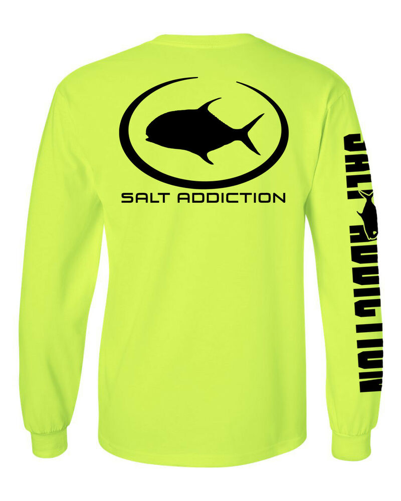 salt addiction long sleeve saltwater fishing t shirt flats