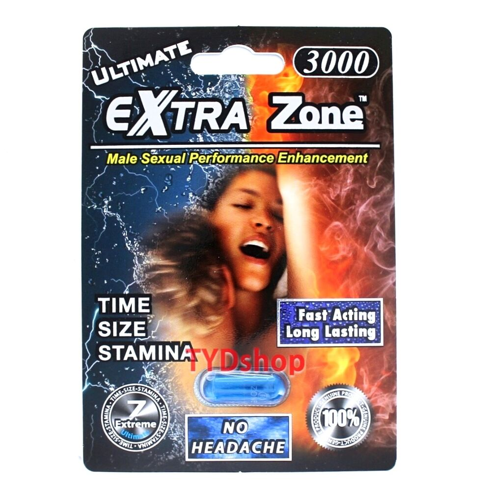 1x Extra Zone Ultimate 3000 Male Sexual Enhancement Pill