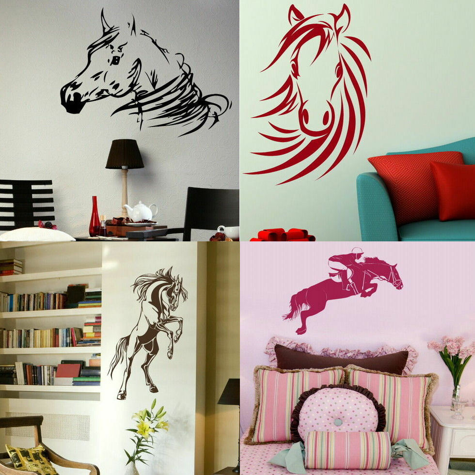 HORSE WALL STICKERS! Trailer Graphic Art Decal, Stable