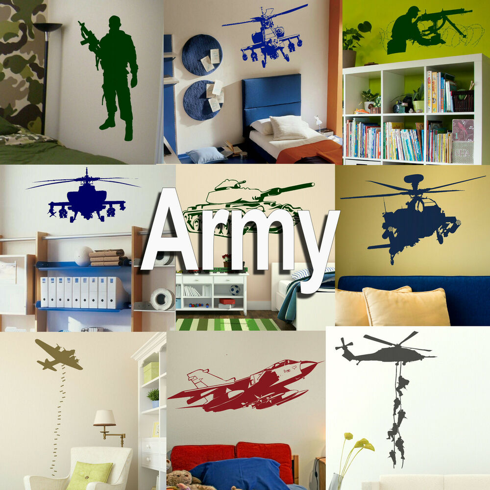 Military Wall Stickers Decal Art Transfer Vinyl Graphic Stencil Home Decor Ebay