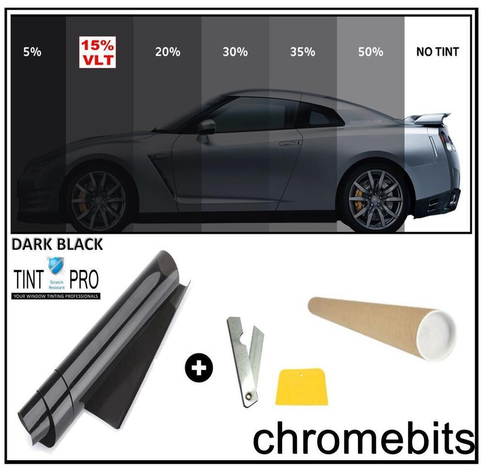 Pro anti scratch car van window tint film tinting dark for 2 for 1 window tinting