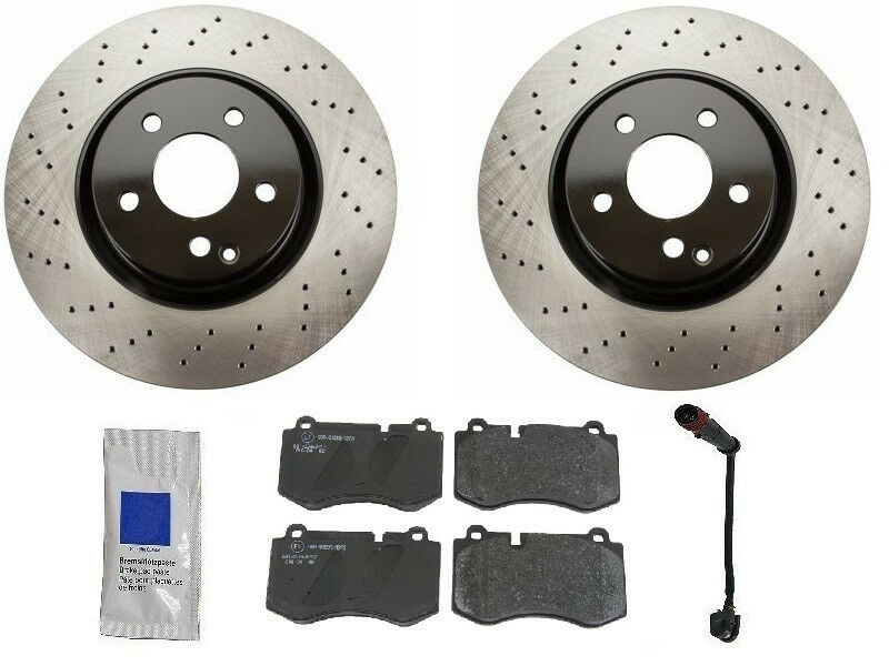 Mercedes w221 s550 base 07 12 aftermarket front brake kit for Mercedes benz rotors and pads