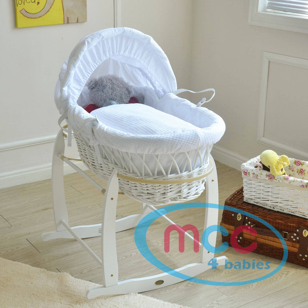 full set palm wicker moses basket with mattress cover. Black Bedroom Furniture Sets. Home Design Ideas