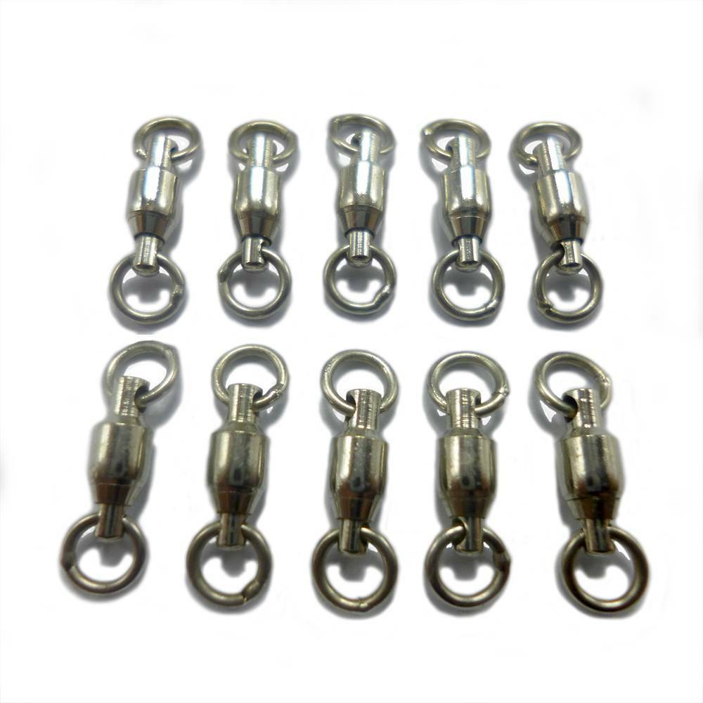 10 x stainless steel size 0 ball bearing fishing swivels for Fishing swivel sizes