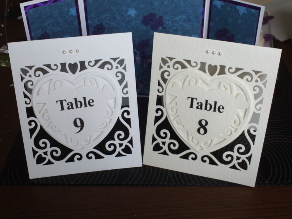 Wedding table numbers 1 6 plus top table free standing for Table numbers
