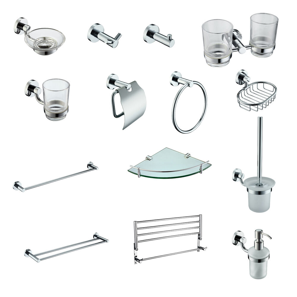 modern silver brass chrome bathroom accessories furniture