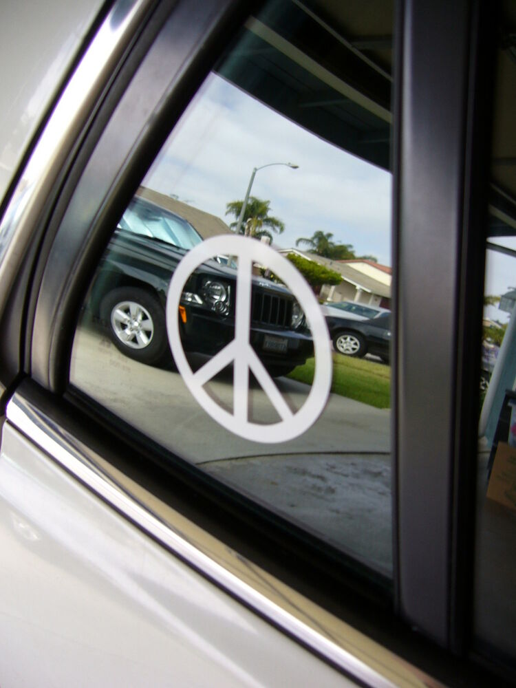 Vinyl Window Decals : Peace sign decal vinyl window laptop car truck suv