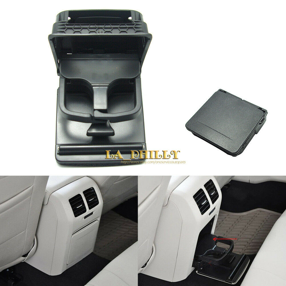 Oe Black Rear Armrest Central Console Cup Holder For Vw