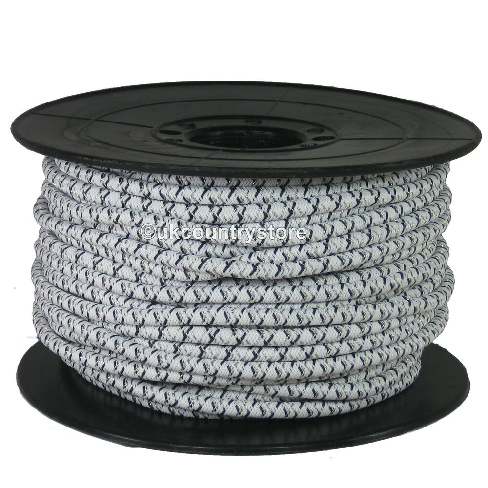 Electric Fencing Bungee Cord 50m Roll Elastic Rope For