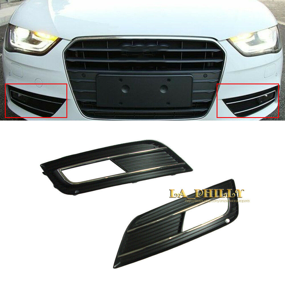 2pcs front bumper chrome fog light lamp grill grille cover. Black Bedroom Furniture Sets. Home Design Ideas