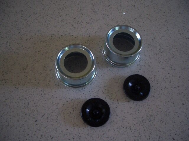 Boat Trailer Grease Cap : Two trailer axle dust cap cup grease cover rv camper ebay