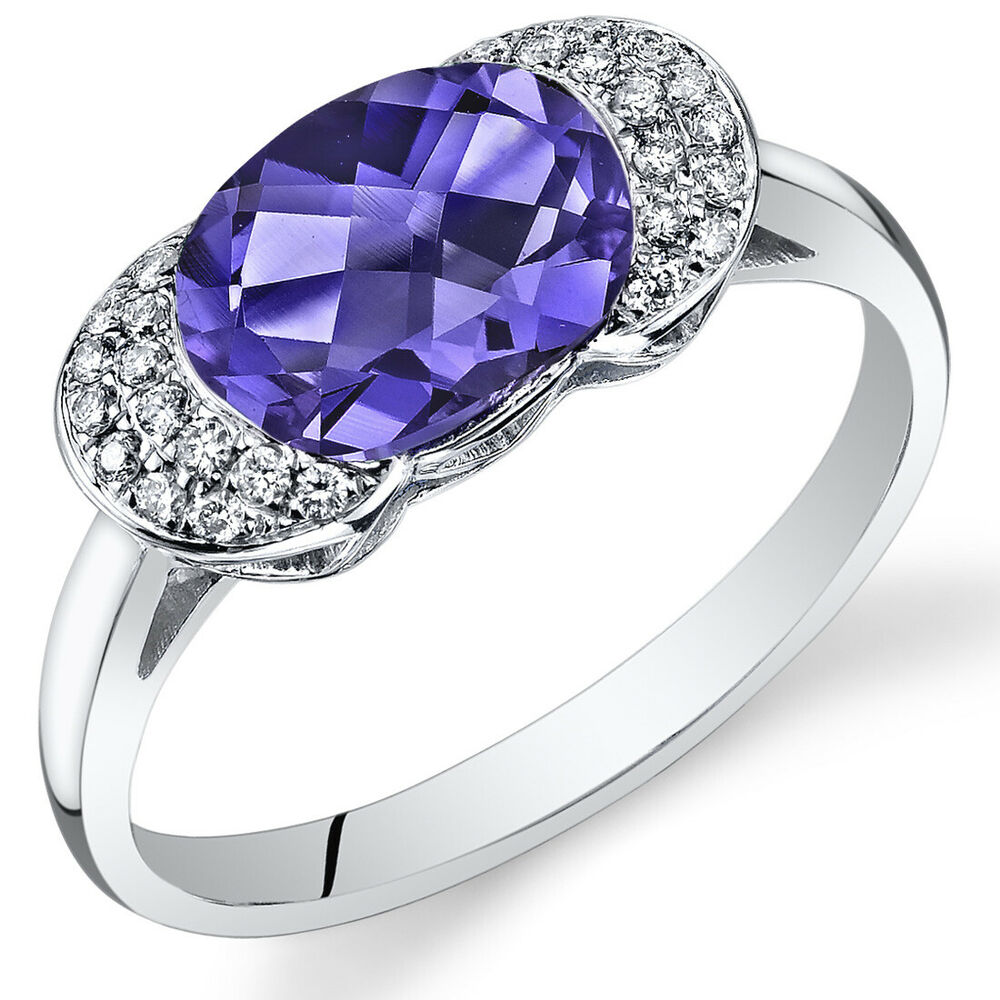 14 kt white gold 2 65 cts alexandrite and ring