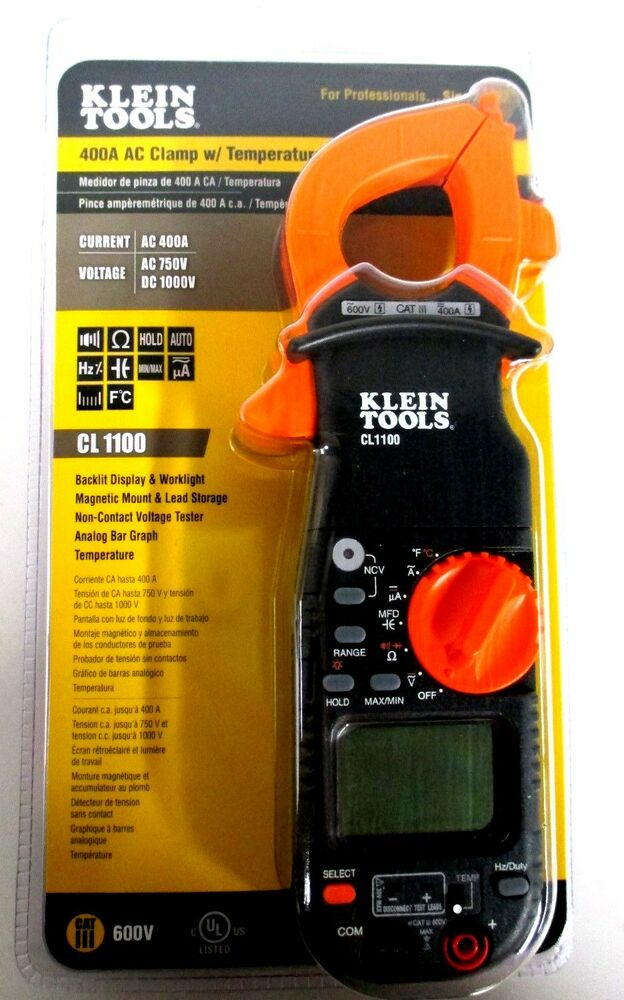 Klein Tools Voltage Tester : Klein tools a ac clamp w temperature non contact