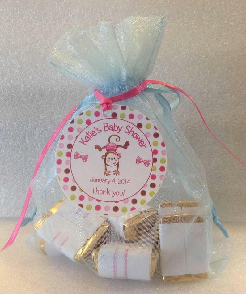 Baby shower favor tags it 39 s a girl boy monkey with border ebay - Baby shower favor tags ...