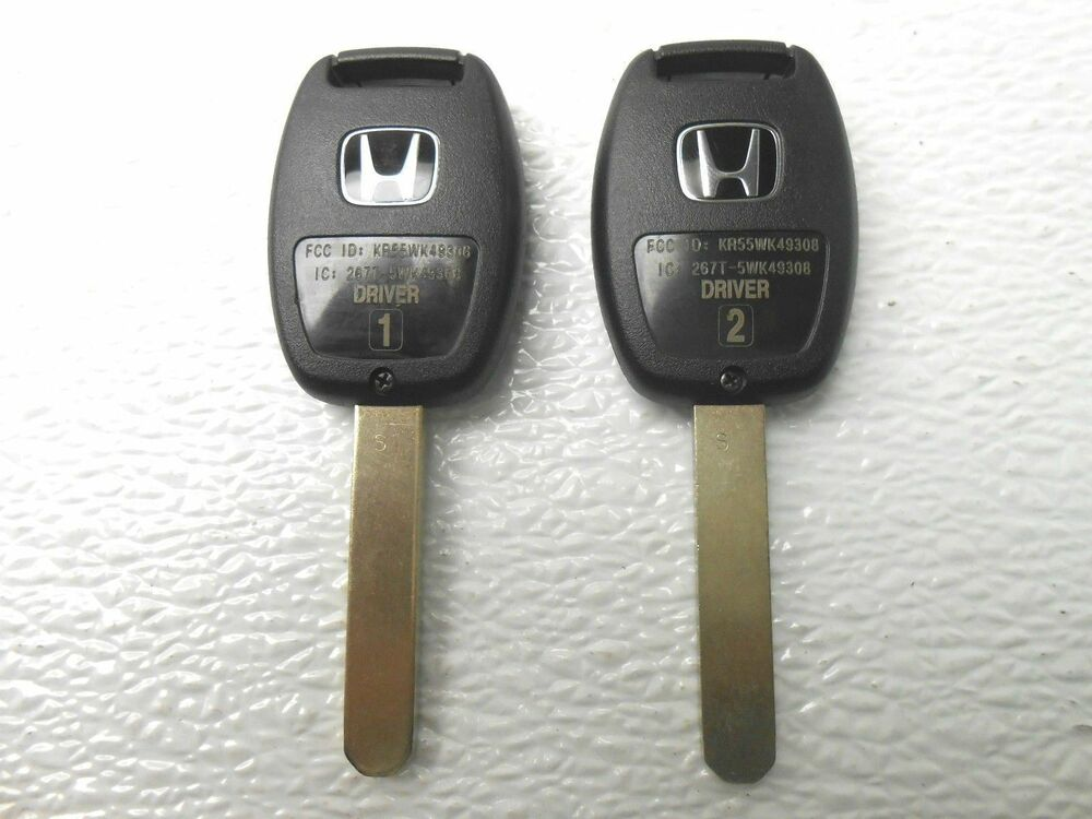New honda replacement remote key keyless entry fob for Honda replacement key cost