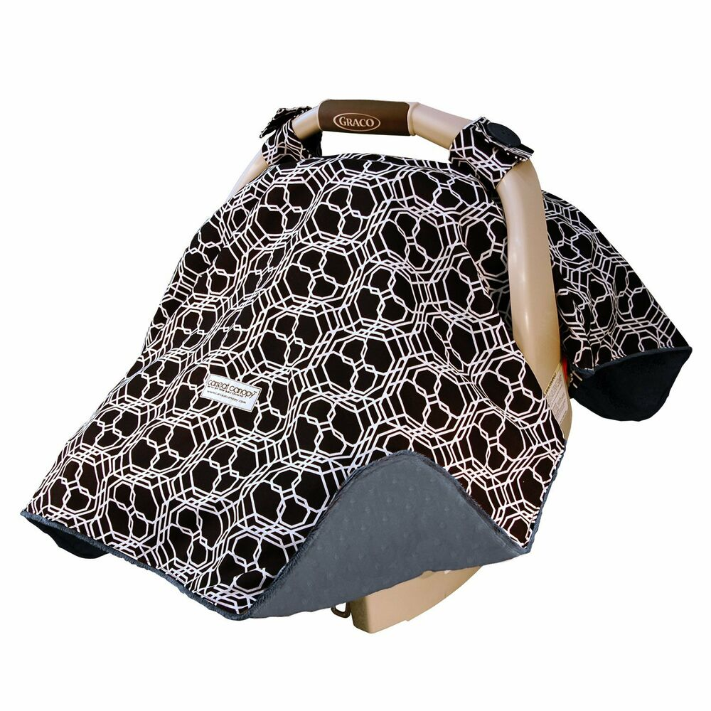 carseat canopy baby car seat canopy cover blanket cotton brand new knott ebay. Black Bedroom Furniture Sets. Home Design Ideas