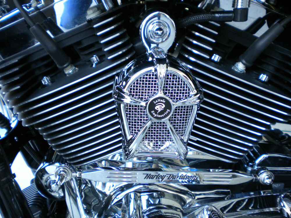 Lenale Cooling Fan Chrome Fits 78 04 Dyna Harley