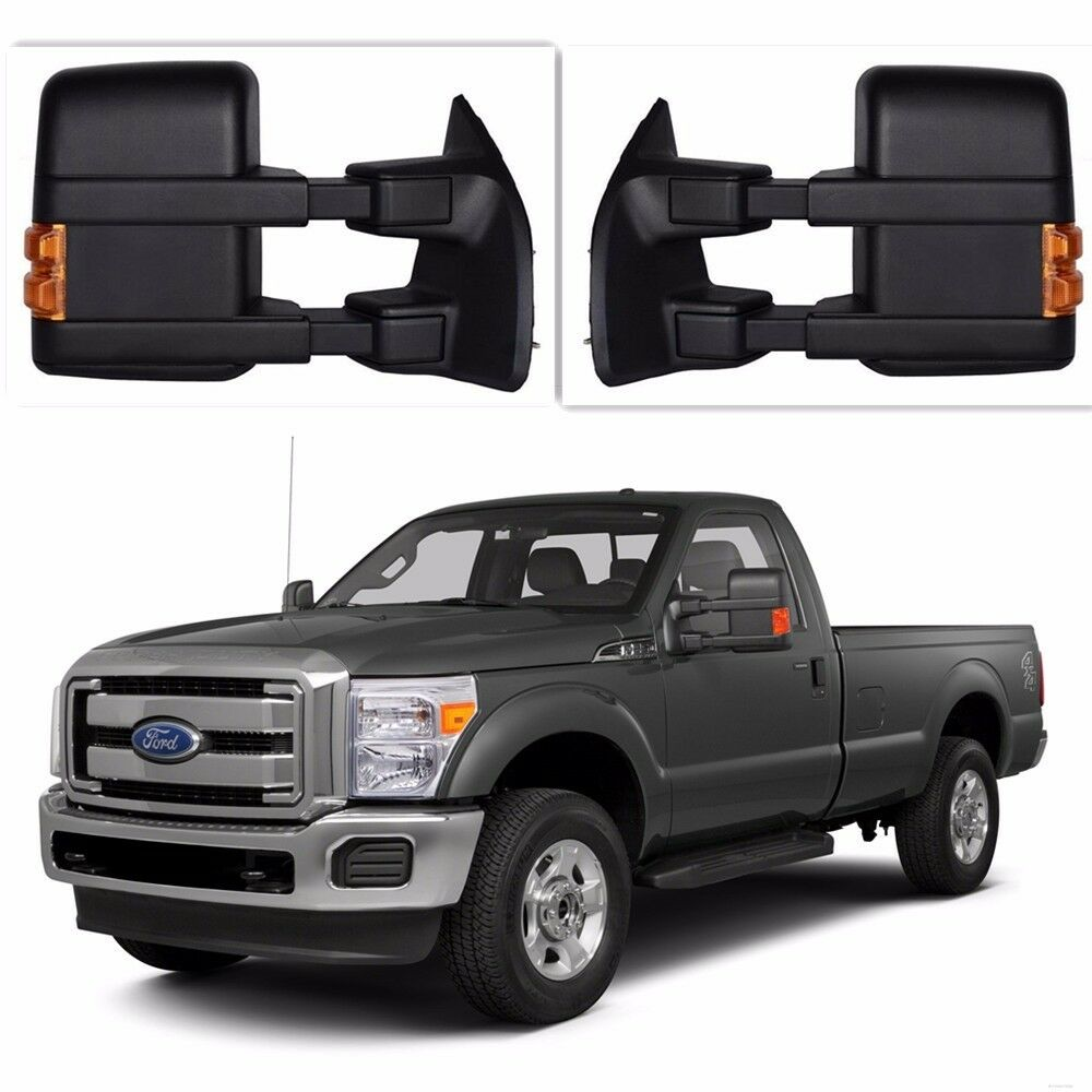 for 99 16 ford f250 super duty towing manual mirrors side tower no amber light ebay. Black Bedroom Furniture Sets. Home Design Ideas