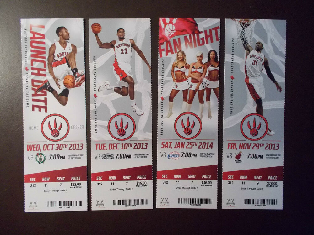 Toronto Raptors 2013-14 NBA ticket stubs - One ticket | eBay