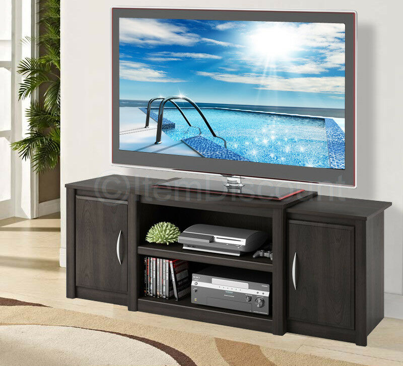 60 tv stand cherry wood doors entertainment center media console table 55 42 32 ebay. Black Bedroom Furniture Sets. Home Design Ideas