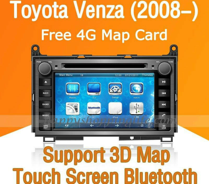 7 car dash dvd gps navigation radio stereo bluetooth for toyota venza 2008 2014 ebay. Black Bedroom Furniture Sets. Home Design Ideas