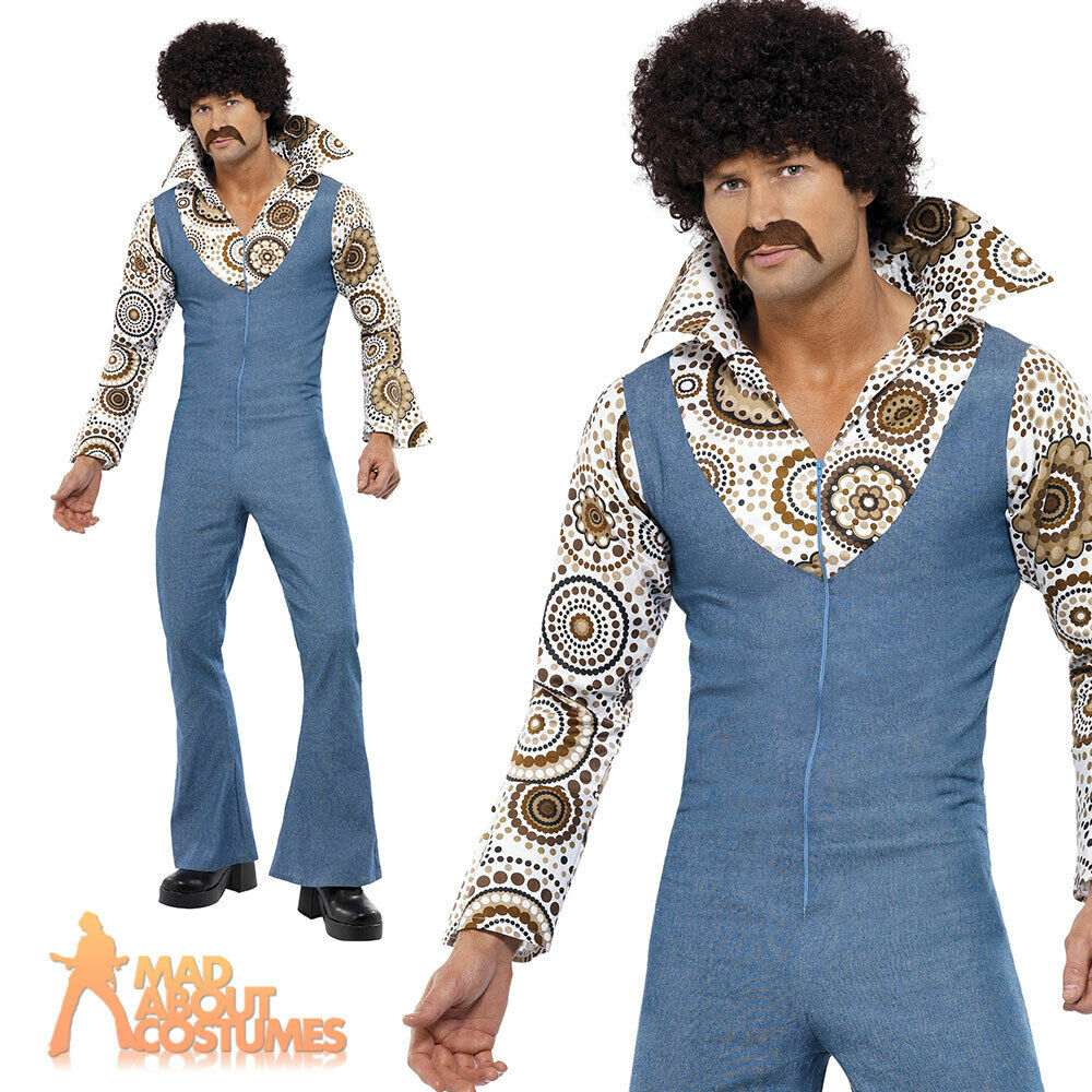 60s 70s groovy dancer disco costume retro mens fancy dress. Black Bedroom Furniture Sets. Home Design Ideas