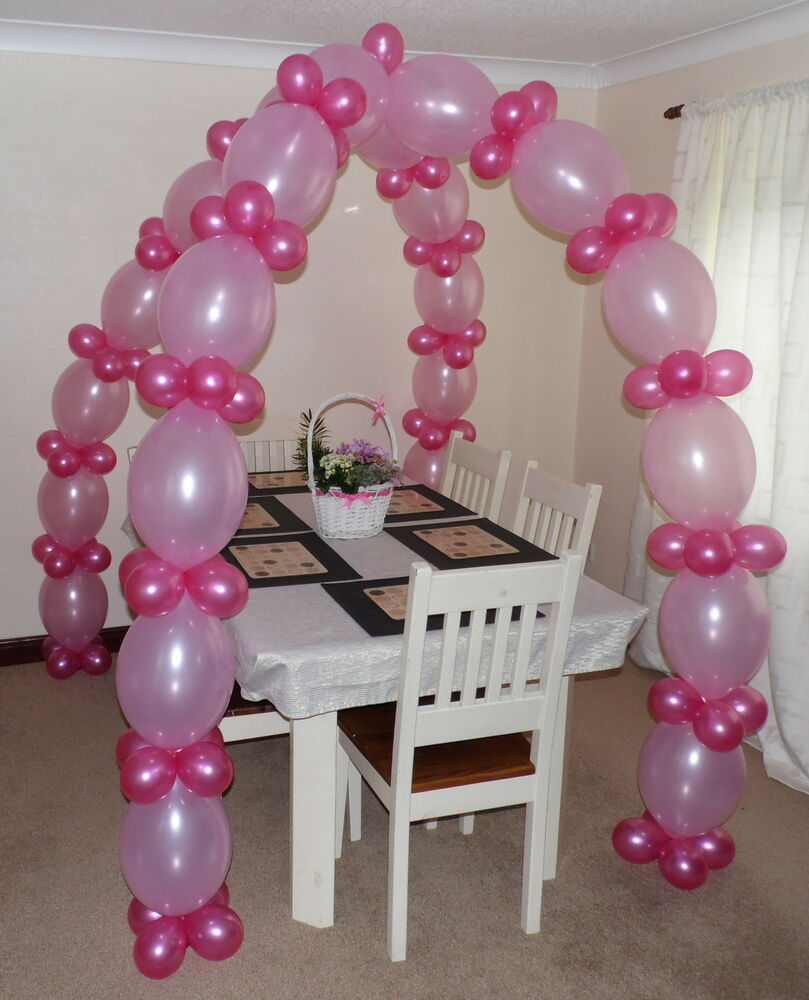 Link balloon arch floor decoration helium or air filled for Air filled balloon decoration ideas
