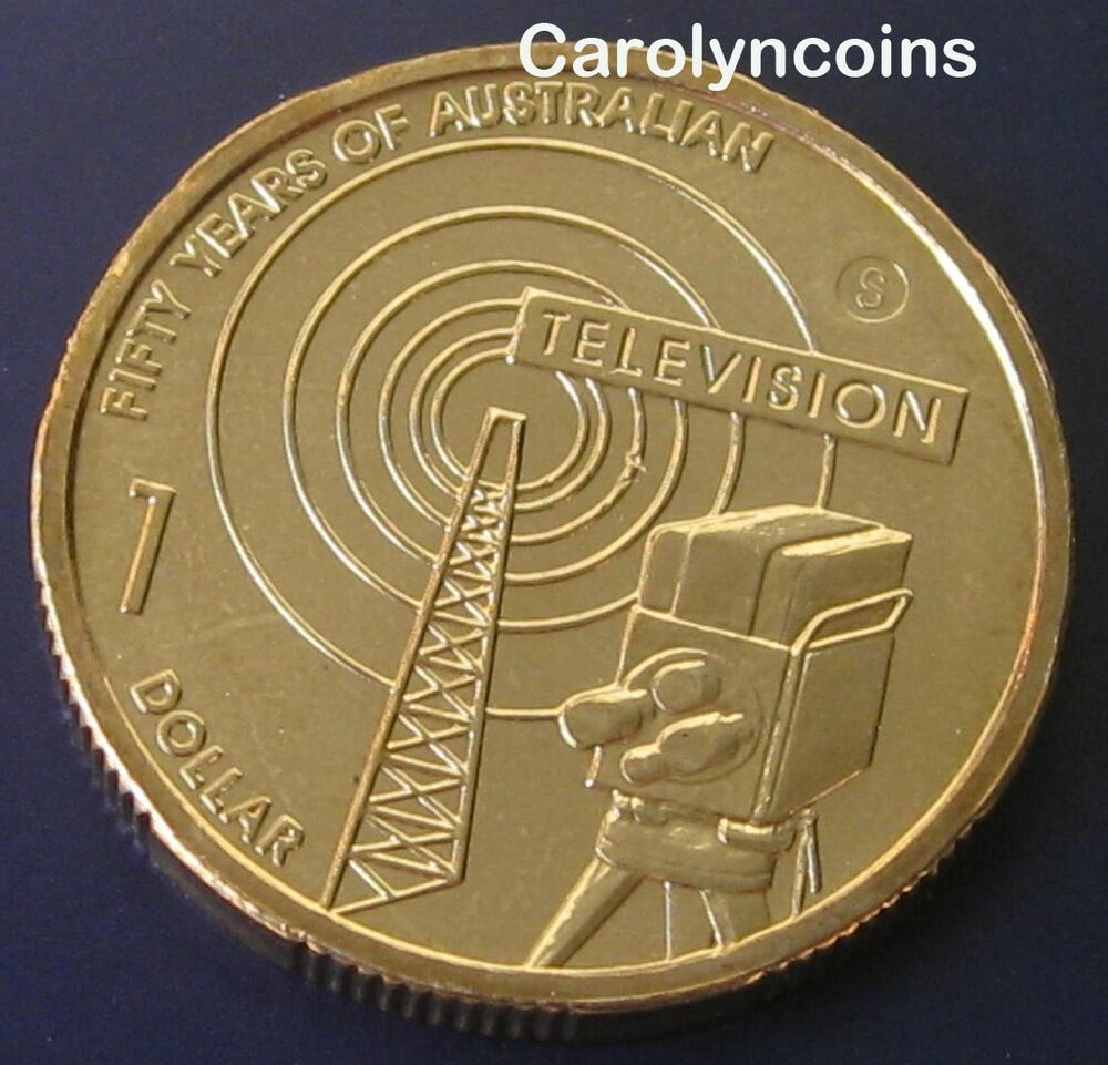 2006 1 unc 50 year of australian the television 1 dollar coin s sydney mintmark ebay. Black Bedroom Furniture Sets. Home Design Ideas