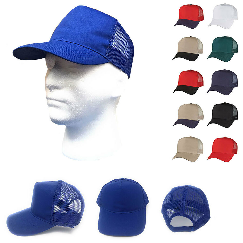 1 dozen cotton twill baseball mesh trucker 5 panel hats