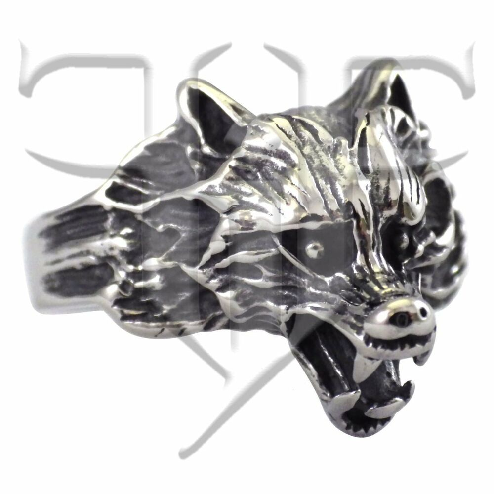 wolf ring stainless steel wolf ring wolves band