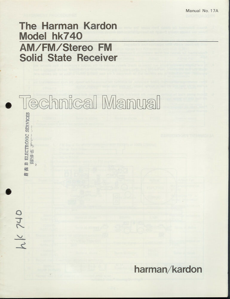 Harman Kardon 490i Manual