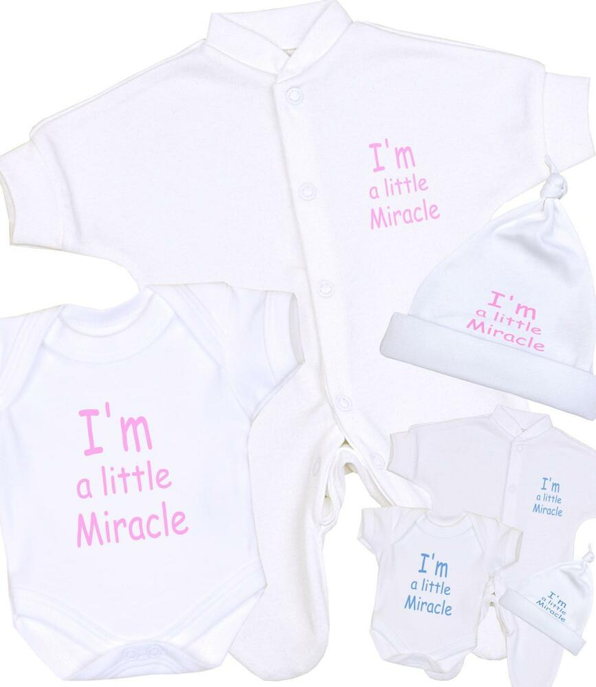 BabyPrem Boys Girls Premature Baby Clothes LITTLE MIRACLE